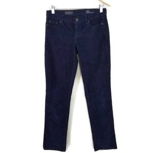 J. Crew Matchstick Navy Blue Corduroy Pants